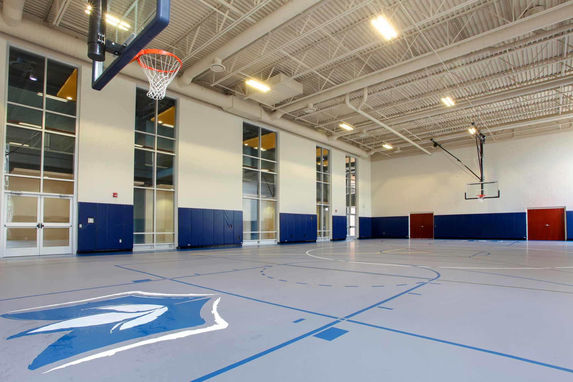 Feature of Harvest Bible Chapel's basketball court