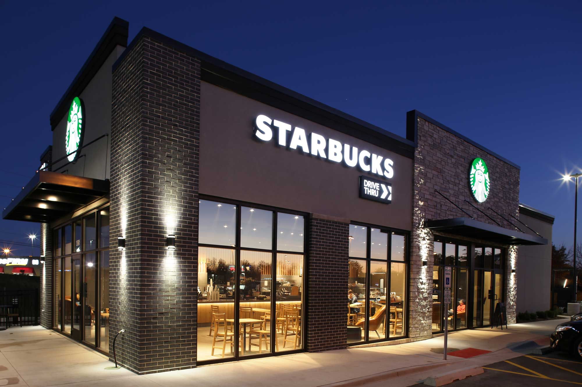 Feature of Starbucks Coffee built on John Deere Road