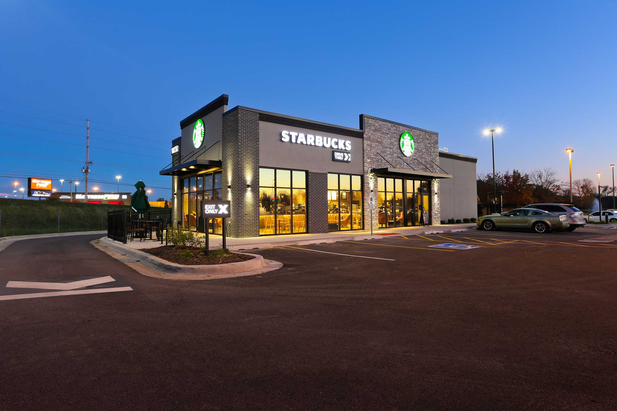Feature of Starbucks Coffee on John Deere Road built by Daxon Construction