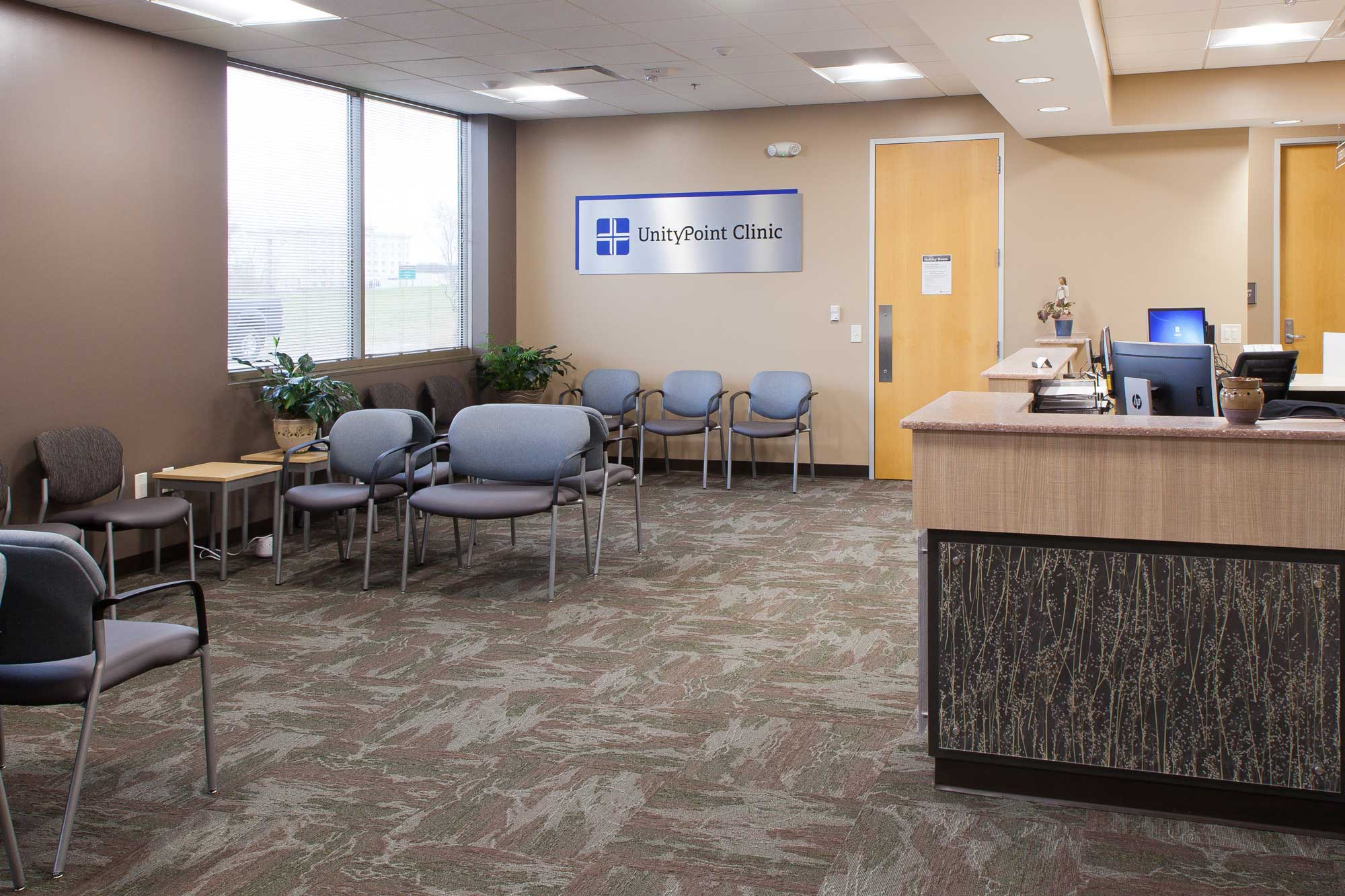 Feature of Unity Point OBGYN waiting room