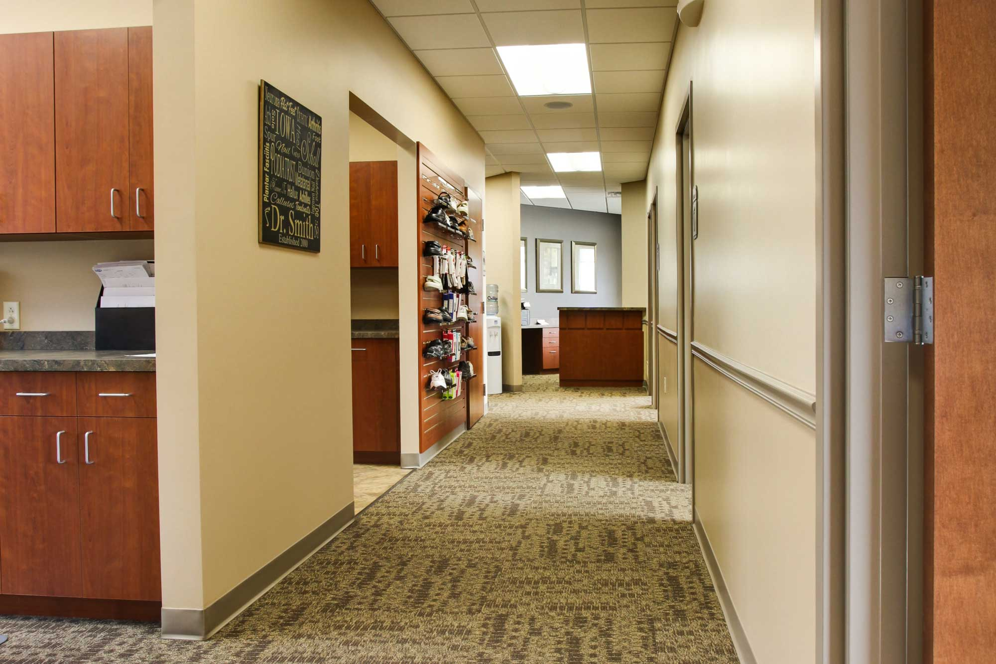 Feature of Valley View Medical showing a hallway to patient and technician areas