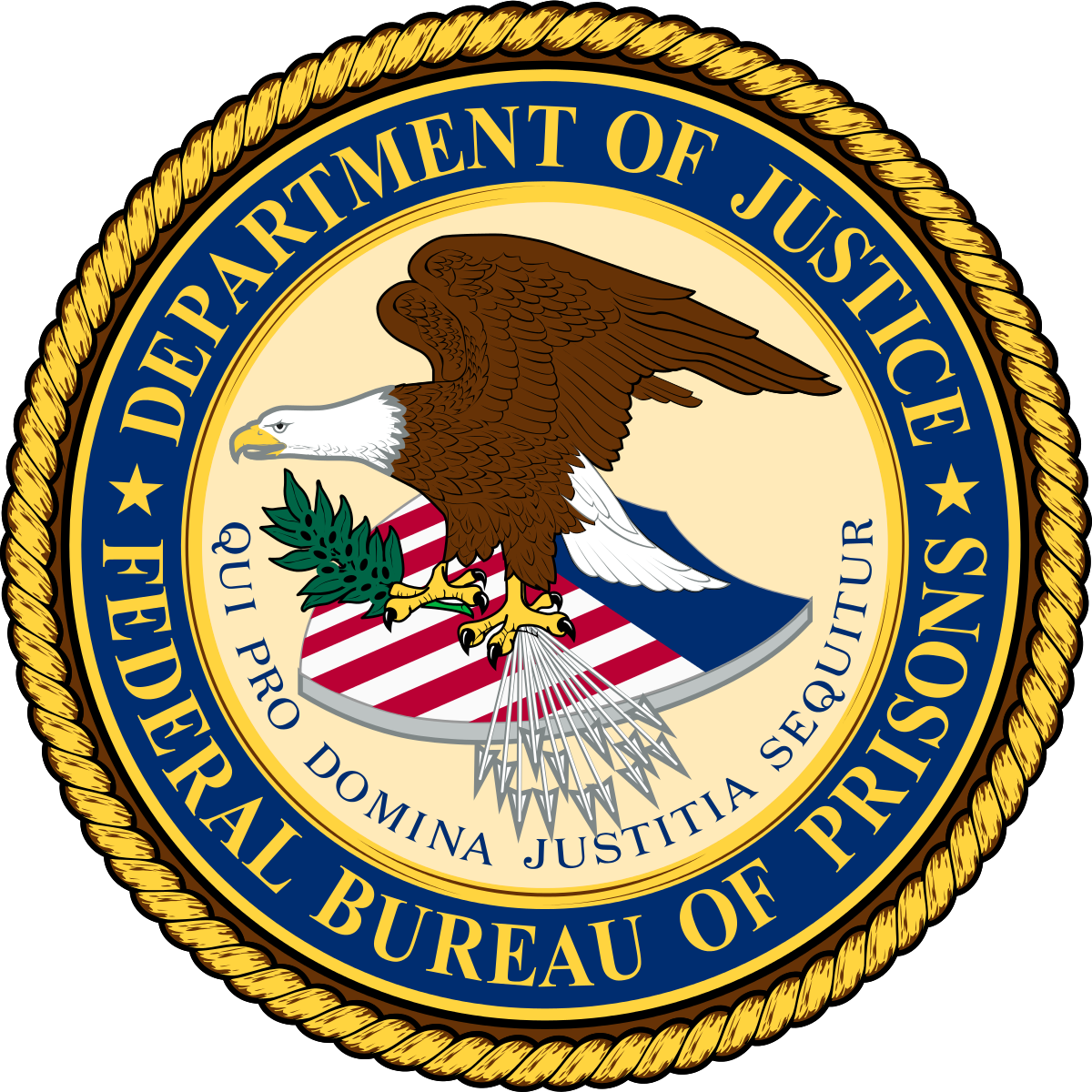 Seal for Department of Justice Federal Bureau of Prisons